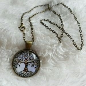 Jewelry - Boho Vintage Look Tree of Life Pendant Necklace